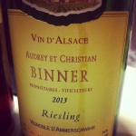 Alsace - Audrey et Christian Binner - Riesling - 2013 - insta