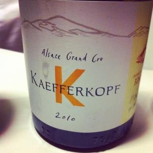 Alsace Grand Cru - Audrey et Christian Binner - Kaefferkopf - 2010 - insta