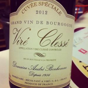 Bourgogne – Viré Clessé – Domaine André Bonhomme – Cuvée Spéciale – 2012 - insta