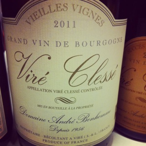 Bourgogne – Viré Clessé – Domaine André Bonhomme – Cuvée Vieilles Vignes – 2011 - insta