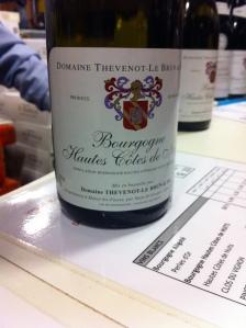 Bourgogne - Hautes Côtes de Nuits - Domaine Thevenot-Le Brun - 2012
