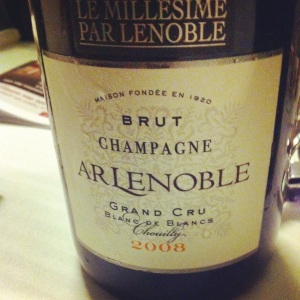Champagne - AR Lenoble - Blanc de blancs - Chouilly - 2008 - insta