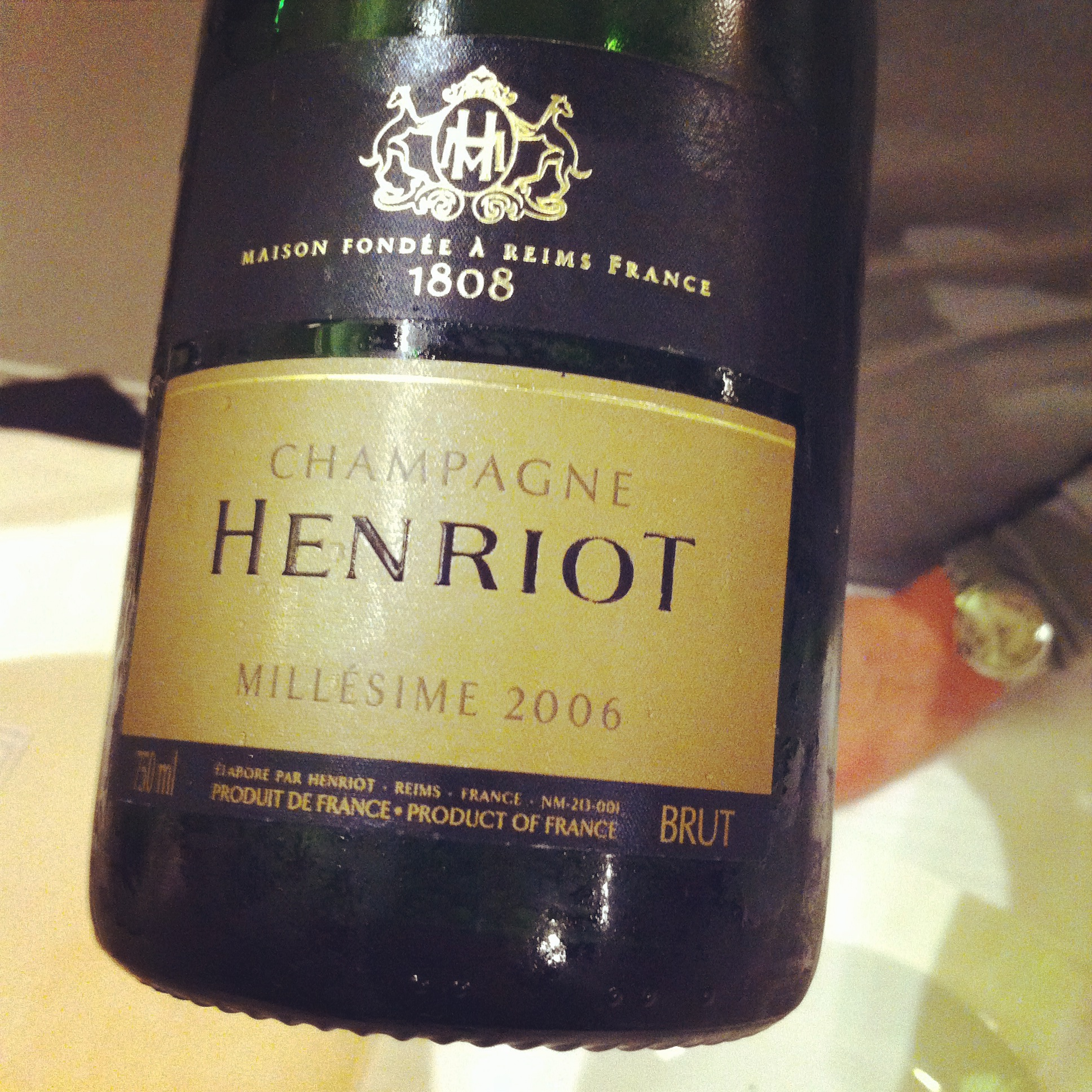 Champagne henriot millesime