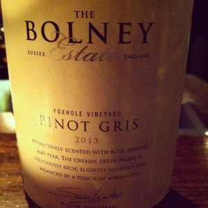 Royaume-Uni - Sussex - The Bolnay Estate - Pinot Gris - 2013 - insta