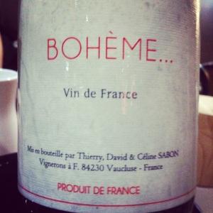 Vallée de la Rhône - Vin de France - Thierry_David_Céline Sabon - Bohème... - 2013 - Insta