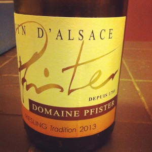 Alsace – Riesling - Domaine Pfister – Tradition – 2013 - Insta