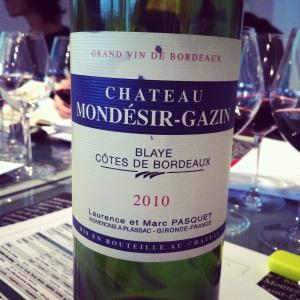 Bordelais - Blaye Côtes de Bordeaux - Château Mondésir-Gazin - 2010 - Insta