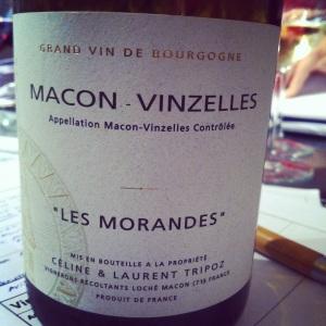 Bourgogne - Macon-Vinzelles - Céline & Laurent Tripoz - Les Morandes - 2011 - Insta