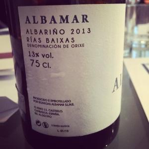 Espagne - Rias Baixas - Albamar - Albarino - 2013 - insta