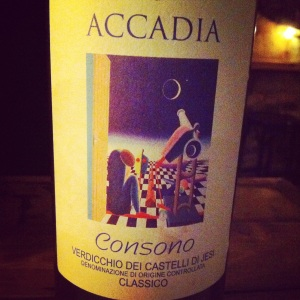 Italie - Verdicchio dei Castelli di Jesi Classico - Azienda Agricola Accadia - Consono - 2013 - insta