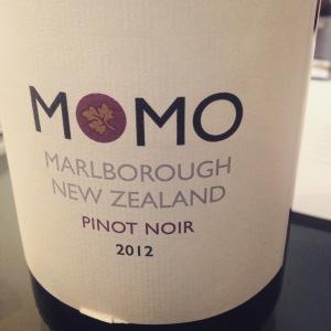 Nouvelle-Zelande - Marlborough - Momo - Pinot noir - 2012 - insta