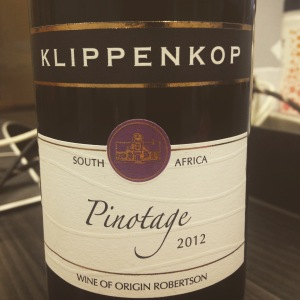 Afrique du Sud - WO Paarl - Robetson Winery - Klippenkop - Pinotage - 2012 - insta