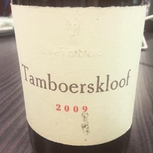 Afrique du Sud - WO Stellenbosch - Kleinood winery - Tamboerskloof - Syrah - 2009 - insta