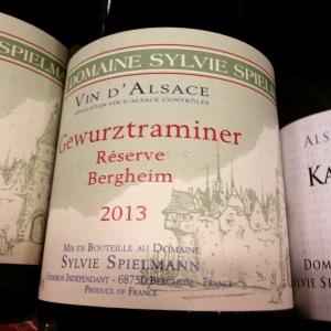 Alsace - Domaine Sylvie Spielmann - Gewurztraminer - Réserve Bergheim - 2013 - Insta