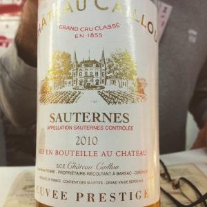 Bordelais - Sauternes - Château Caillou - cuvée Prestige - 2010