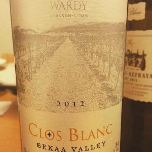 Liban - Bekaa Valley - Château Wardy - Clos Blanc - 2012