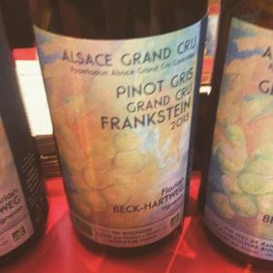 Alsace - Pinot gris Grand Cru - Florian Beck-Hartweg - Cuvée Frankstein - 2013