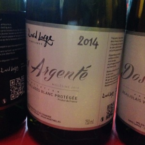 Beaujolais blanc - David Large - Dos Argenté - 2014