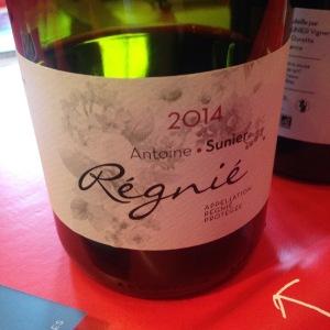 Beaujolais - Régnié - Antoine Sunier - 2014