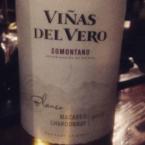 Espagne – Aragón - Somontano – Viñas del Vero – Macabeo-Chardonnay - 2014