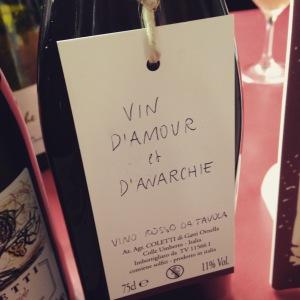 Italie - Frioul-Vénétie Julienne – Vino rosso da tavola - Massimo Coletti - Vin d'amour et d'anarchie
