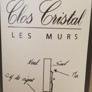 Vallée de la Loire – Saumur-Champigny - Clos Cristal – Les Murs - 2013
