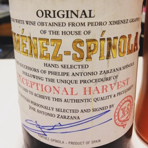 Espagne – Andamousie – Xérès - Pedro-ximenez - Giménez-Spìnola - Exceptional Harvest