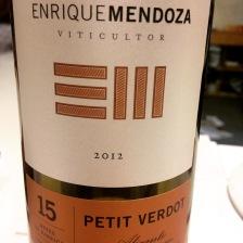Espagne - Valenciana - Alicante - Enrique Mendoza - Petit Verdot - 2012