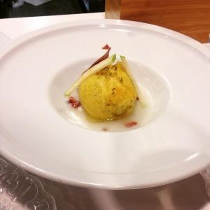 Artichaut farci aux champignons et jambon ibérique
