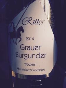 Allemagne – Nahe - Weinhaus Ritter – Pinot gris - 2014