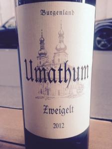 Autriche – Burgenland – Neusiedlersee- Umathum – Zweigelt - 2012
