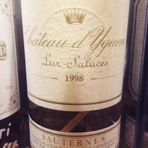 Bordelais – Sauternes – Château Yquem - 1998