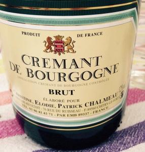 Bourgogne – Crémant de Bourgogne – Christine, Elodie, Patrick Chalmeau