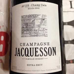 Champagne – Jacquesson – Famille Criquet –Brut – Avize Champ Caïn – Récolte 2005