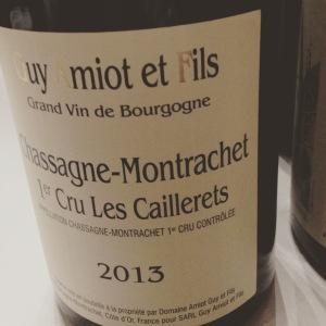 Chassagne-Montrachet 1er Cru - Guy Amiot et Fils - Les Caillerets – 2013 -