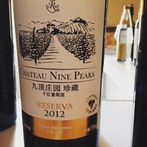 Chine – QingdaoShandong – Greatriverhill - Château Nine Peaks - Cabernet Sauvignon - Réserva - 2012
