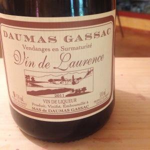 Languedoc-Rousillon – Vin de Liqueur – Mas de Daumas Gassac – Vin de Laurence