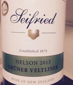 Nouvelle Zélande – Nelson – Seifried - Grüner Vetliner – 2013