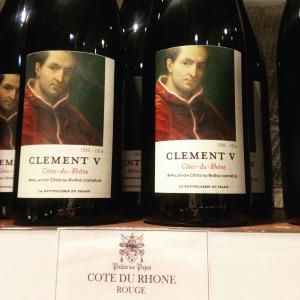 Côtes du Rhône Clément V - 8 euros