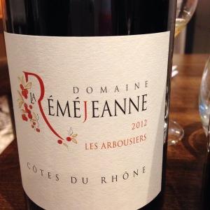 Côtes du Rhône - Domaine La Reméjeanne - Les Arbousiers - 2012