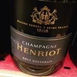 Champagne - Henriot - Brut souverain 29.95 euros