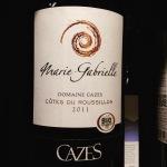 Rousillon - Côtes du Roussillon - Domaine Cazes - Marie-Gabrielle - 2011 - 6.90 euros