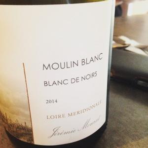 Vallée de la Loire – IGP Val de Loire - Jérémie Mourat – Moulin Blanc - Blanc de Noirs - 2014