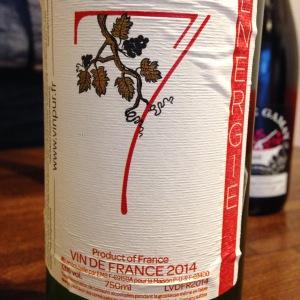 Vallée du Rhône – Vin de France – Maison Pur – Energie n°7 – Roussanne - 2014