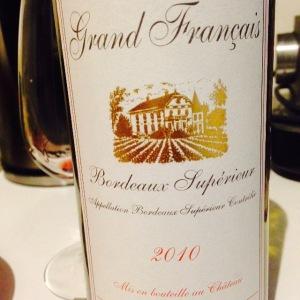 Bordelais - Bordeaux Supérieur - Château Grand Français - 2010