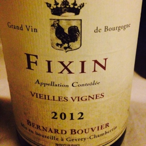 Bourgogne - Fixin - Bernard Bouvier - Vieilles Vignes - 2012