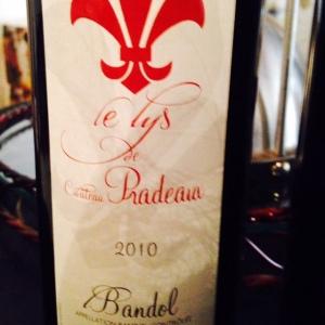 Provence - Bandol - Le Lys de Château Pradeaux (second vin) - 2010