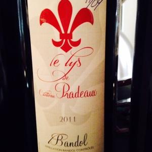 Provence - Bandol - Le Lys de Château Pradeaux (second vin) - 2011
