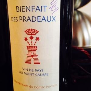 Provence – IGP du pays du Mont Caume - Bienfait des Pradeaux - 2014