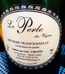 Vallée de la Loire – Vin de France (Muscadet) – EARL Chupin – La Perle des Vignes – Méthode Traditionnelle